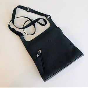 Urban Oxide Recycled Rubber Crossbody Bag in Black